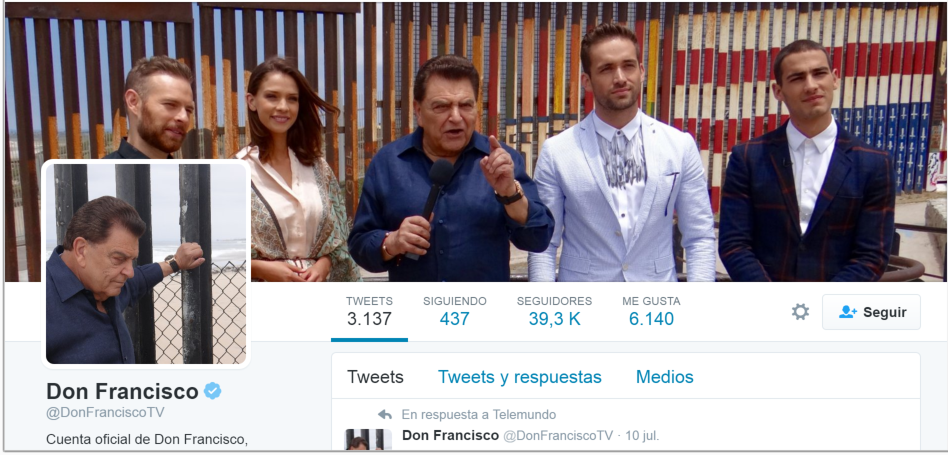 Seguidores Twitter de Don Franscisco