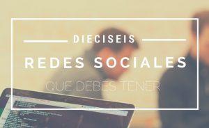 16 redes sociales