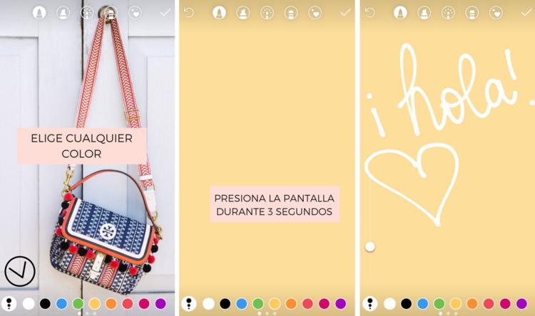 ¿Cómo poner el fondo de color en las historias de Instagram?